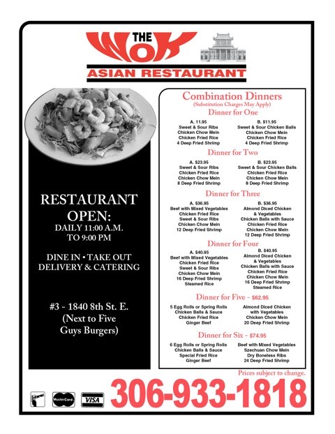 The Wok Menu Page 2